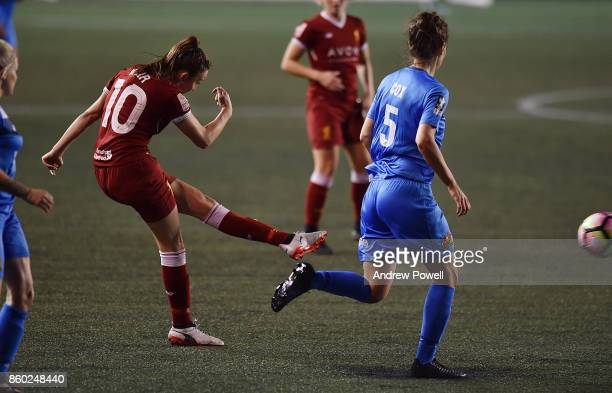 Caroline Weir of Liverpool Ladies scores the second goal during the Women's Super League match between Liverpool Ladies and Sheffield FC Ladies at...