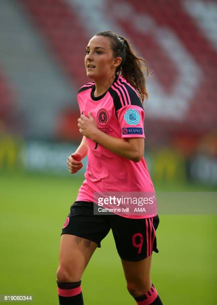 Caroline Weir of Scotland Women during the UEFA Women's Euro 2017 match between England and Scotland at Stadion Galgenwaard on July 19 2017 in...