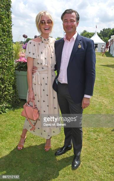 Caroline Winberg and Laurent Feniou attend the Cartier Queen's Cup Polo final at Guards Polo Club on June 18 2017 in Egham England