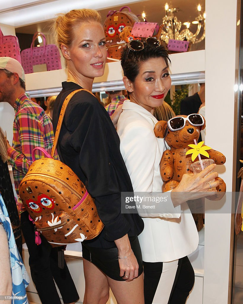 Caroline Winberg (L) and Sung Joo Kim attend the MCM Craig And Karl Launch Event on July 4, 2013 in London, England.
