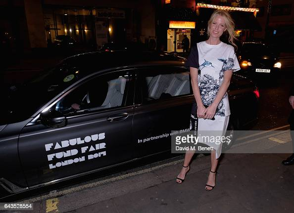 Caroline Winberg arrives in style in the BMW 7 Series at Fund Fair event in aid of supermodel Natalia Vodianovas charity the Naked Heart Foundation...