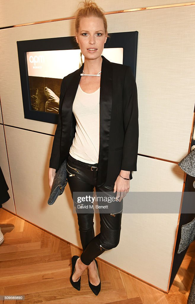 <a gi-track='captionPersonalityLinkClicked' href=/galleries/search?phrase=Caroline+Winberg&family=editorial&specificpeople=857116 ng-click='$event.stopPropagation()'>Caroline Winberg</a> attends the APM Monaco flagship store opening on South Molton Street on February 11, 2016 in London, England.