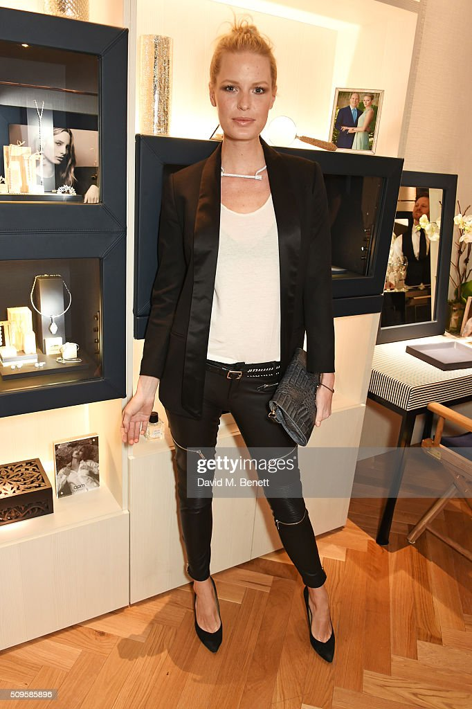 Caroline Winberg attends the APM Monaco flagship store opening on South Molton Street on February 11, 2016 in London, England.