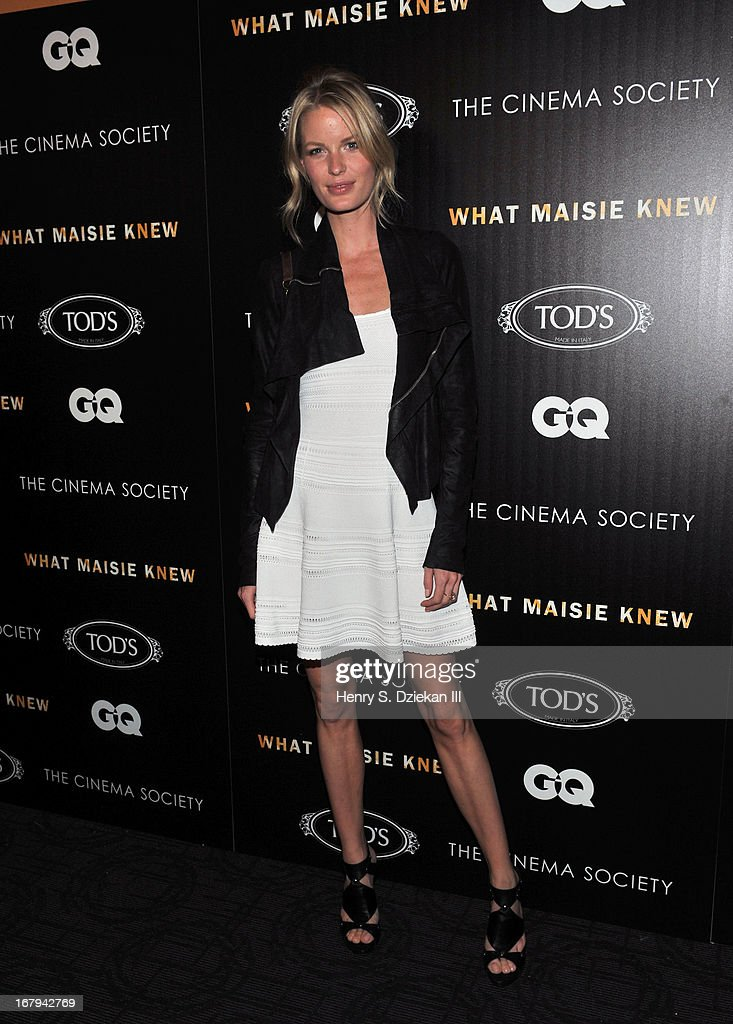 <a gi-track='captionPersonalityLinkClicked' href=/galleries/search?phrase=Caroline+Winberg&family=editorial&specificpeople=857116 ng-click='$event.stopPropagation()'>Caroline Winberg</a> attends The Cinema Society with Tod's & GQ screening of Millennium Entertainment's 'What Maisie Knew' at Sunshine Landmark on May 2, 2013 in New York City.