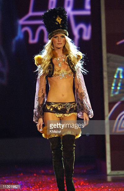 Caroline Winberg during 10th Victoria's Secret Fashion Show Runway at The New York State Armory in New York City New York United States