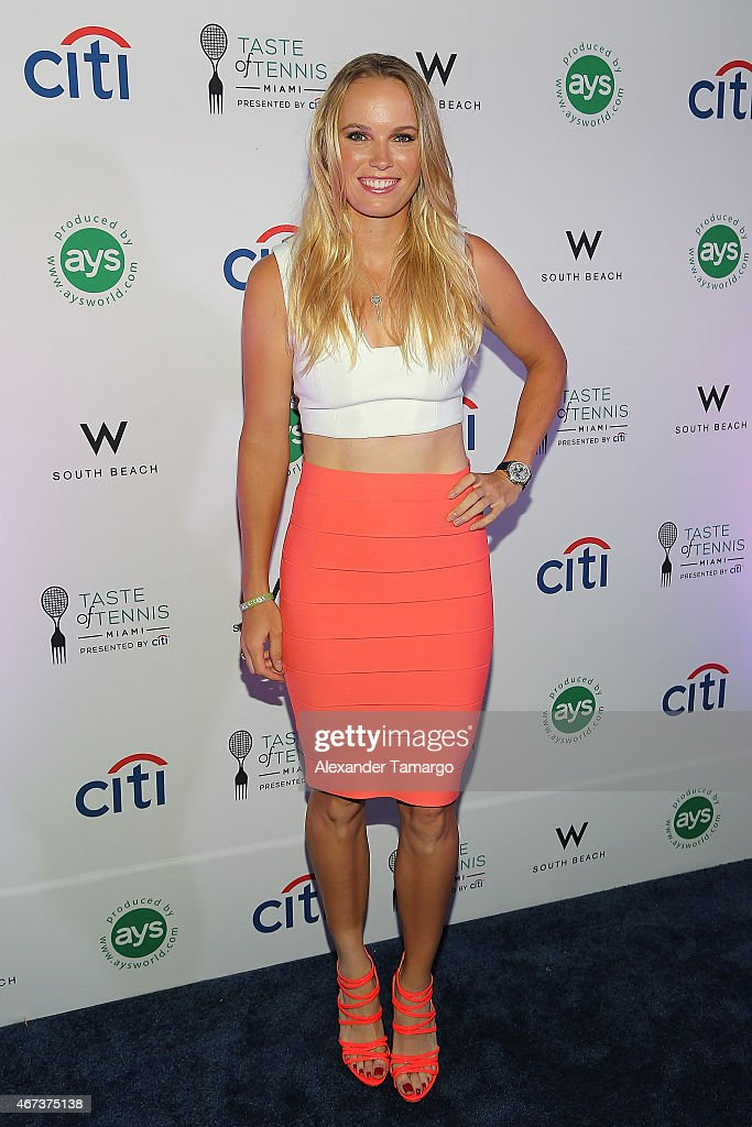<a gi-track='captionPersonalityLinkClicked' href=/galleries/search?phrase=Caroline+Wozniacki&family=editorial&specificpeople=740679 ng-click='$event.stopPropagation()'>Caroline Wozniacki</a> attends the Taste Of Tennis Miami Presented By Citi at W South Beach on March 23, 2015 in Miami Beach, Florida.