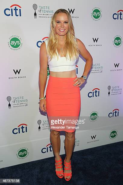 Caroline Wozniacki attends the Taste Of Tennis Miami Presented By Citi at W South Beach on March 23 2015 in Miami Beach Florida