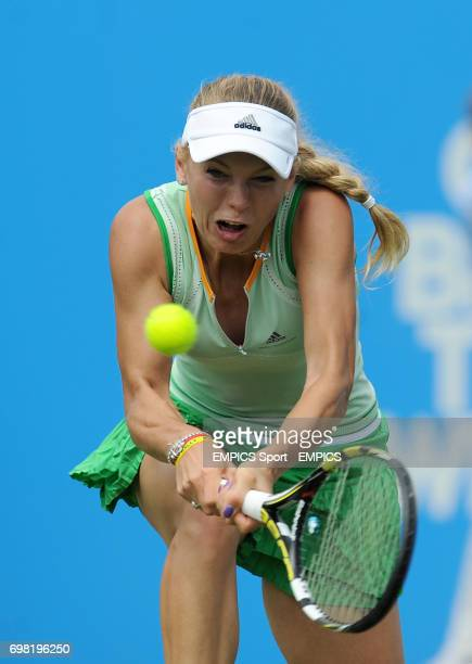 Caroline Wozniacki in action against Angelique Kerber during the AEGON International at Devonshire Park Eastbourne