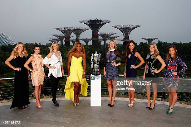Caroline Wozniacki of Denmark Agnieszka Radwanska of Poland Petra Kvitova of Czech Republic Serena Williams of USA Maria Sharapova of Russia Ana...