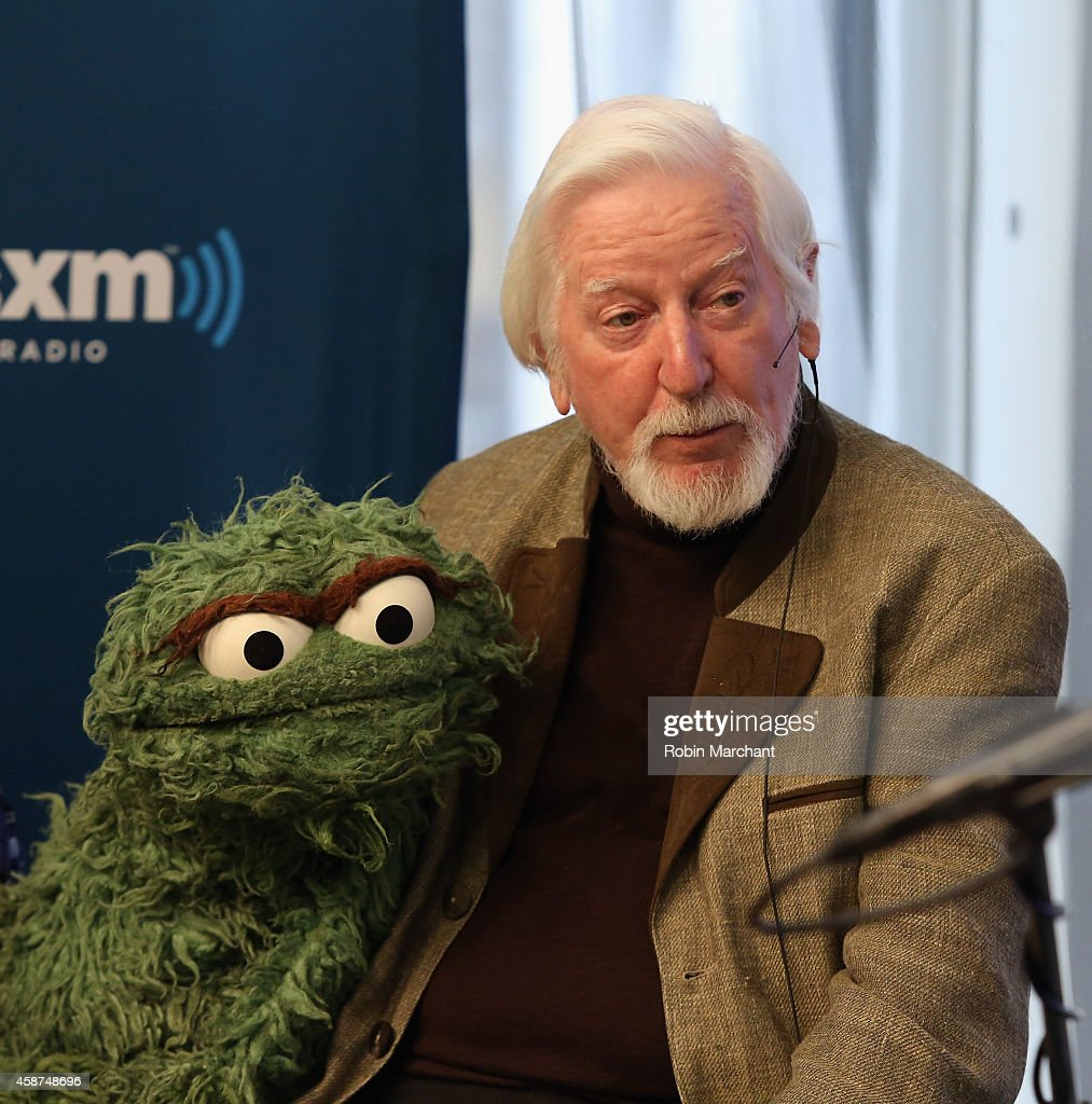 <a gi-track='captionPersonalityLinkClicked' href=/galleries/search?phrase=Caroll+Spinney&family=editorial&specificpeople=653956 ng-click='$event.stopPropagation()'>Caroll Spinney</a> 'Oscar and Big Bird' attends SiriusXM's Town Hall with original cast members from Sesame Street commemorating the 45th anniversary of the celebrated series debut on public television moderated by Weekend TODAY co-anchor Erica Hill on October 9, 2014 in New York City.