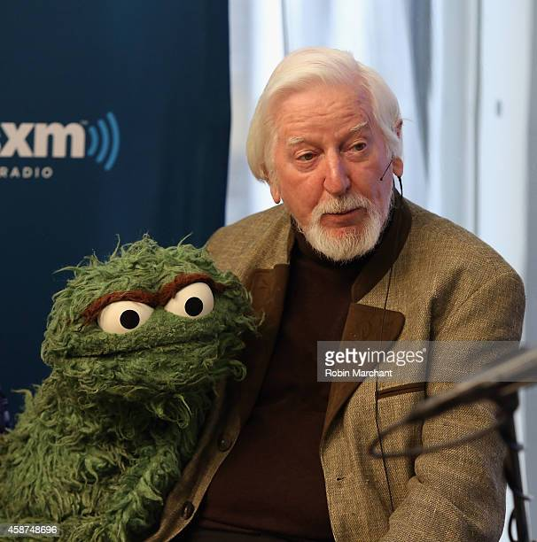 Caroll Spinney 'Oscar and Big Bird' attends SiriusXM's Town Hall with original cast members from Sesame Street commemorating the 45th anniversary of...