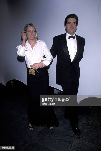 Carolyn Bessette Kennedy and John F Kennedy Jr at the 'Bright Night Whitney' Annual Fundraising Gala in New York City NY Whitney Museum 03/09/99