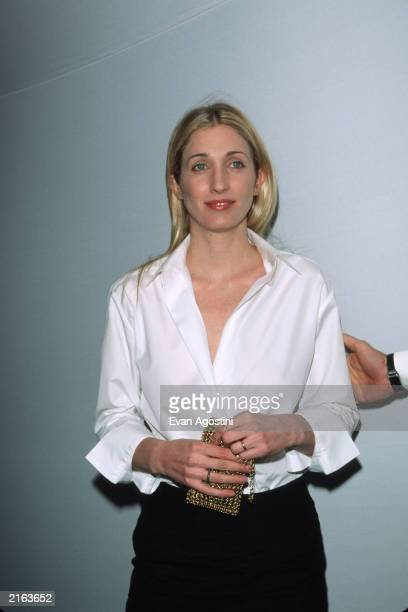 Carolyn Bessette Kennedy poses for a picture at the Annual Fundraising Gala at the Whitney Museum of American Art March 9 1999 in New York City Four...