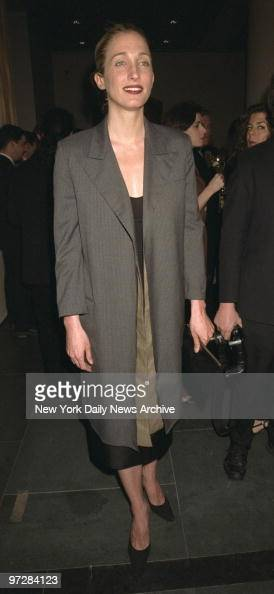 Carolyn BessetteKennedy appears at the opening of 'Krizia An Exhibition' at the Grey Art Gallery at New York University