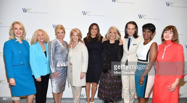 Carolyn Carter Carole King Carolyn Maloney Daryl Roth Mariska Hartigay Sheila Nevins Jordan Roth Cheryl Wills and Ilene Wachs attend The 7th Annual...