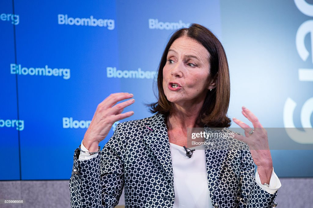 Carolyn Fairbairn, director general of the Confederation of British Industry (CBI), gestures whilst speaking during a debate entitled 'The Implications of Brexit' in London, U.K., on Friday, April 29, 2016. U.K. Prime Minister David Cameron said he'll hold a long-pledged referendum on the U.K.s membership of the European Union on June 23. Photographer: Jason Alden/Bloomberg via Getty Images