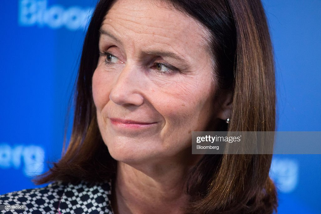 Carolyn Fairbairn, director general of the Confederation of British Industry (CBI), pauses during a debate entitled 'The Implications of Brexit' in London, U.K., on Friday, April 29, 2016. U.K. Prime Minister David Cameron said he'll hold a long-pledged referendum on the U.K.s membership of the European Union on June 23. Photographer: Jason Alden/Bloomberg via Getty Images