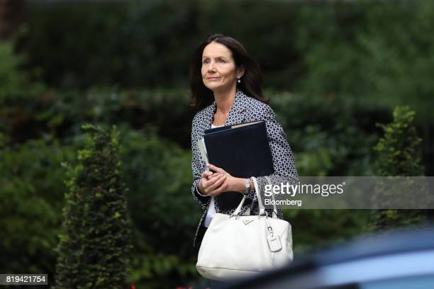 Carolyn Fairbairn director general of the Confederation of British Industry arrives in Downing Street for a business advisory group meeting in London...