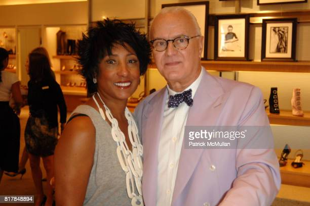 Carolyn Folks and Manolo Blahnik attend Manolo Blahnik In Person at Neiman Marcus at Neiman Marcus on October 7 2010 in Beverly Hills California