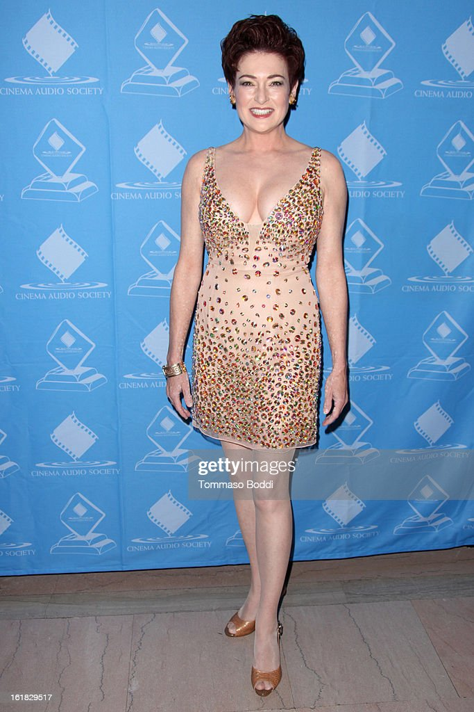 Carolyn Hennesy attends the 49th annual Cinema Audio Society Awards held at Millennium Biltmore Hotel on February 16, 2013 in Los Angeles, California.