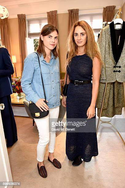 Carolyn Hodler and Alexia Niedzielski attend a cocktail reception hosted by RACIL and MATCHESFASHIONCOM to celebrate the launch of Racil AW16...