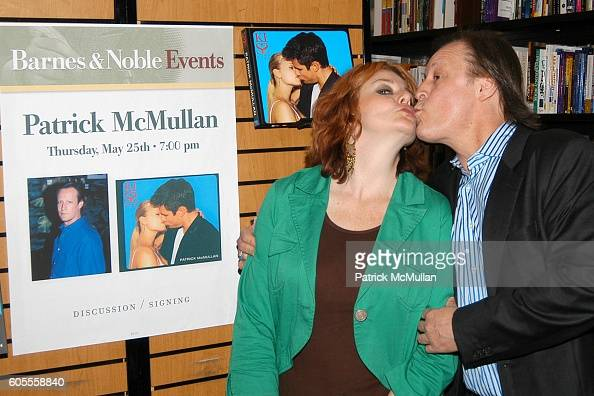 Carolyn Huges and Patrick McMullan attend Patrick McMullan Book Signing at Barnes and Noble Astor Place on May 25 2006 in New York City