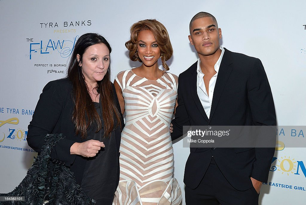 Carolyn London, Tyra Banks, and Rob Evans attend The Flawsome Ball For The Tyra Banks TZONE at Capitale on October 18, 2012 in New York City.