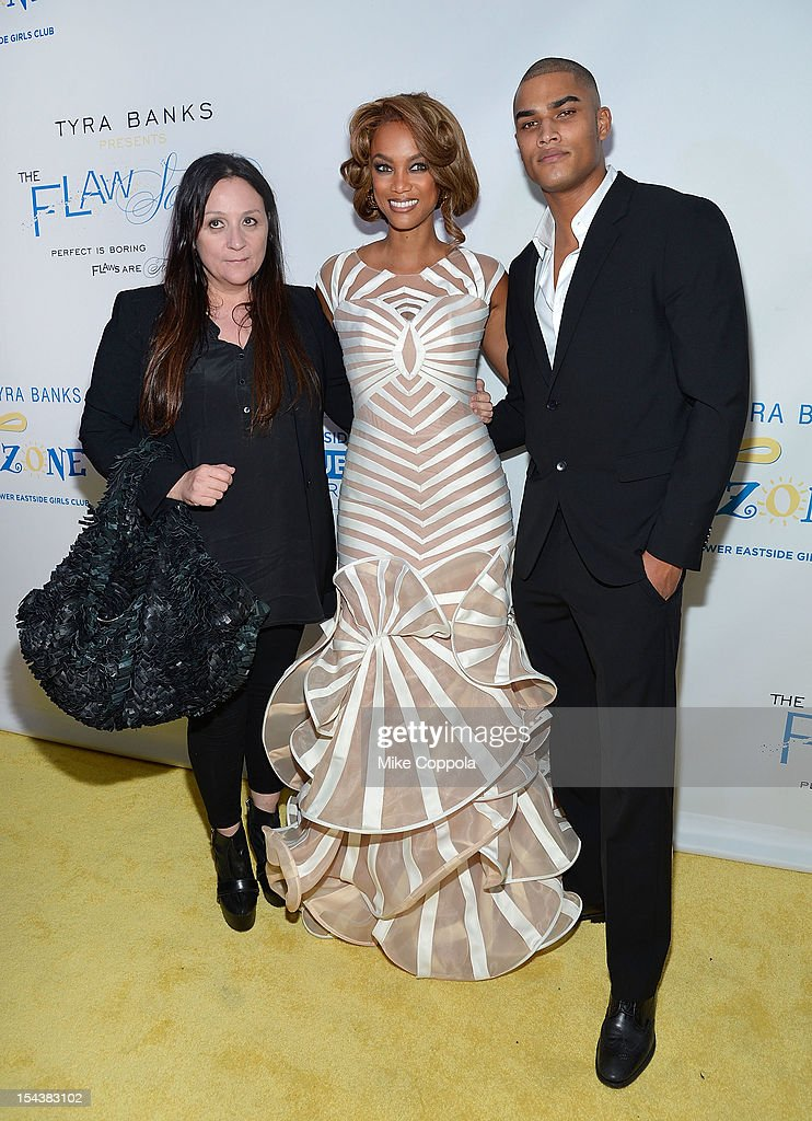 Carolyn London, <a gi-track='captionPersonalityLinkClicked' href=/galleries/search?phrase=Tyra+Banks&family=editorial&specificpeople=202216 ng-click='$event.stopPropagation()'>Tyra Banks</a>, and Rob Evans attend The Flawsome Ball For The <a gi-track='captionPersonalityLinkClicked' href=/galleries/search?phrase=Tyra+Banks&family=editorial&specificpeople=202216 ng-click='$event.stopPropagation()'>Tyra Banks</a> TZONE at Capitale on October 18, 2012 in New York City.