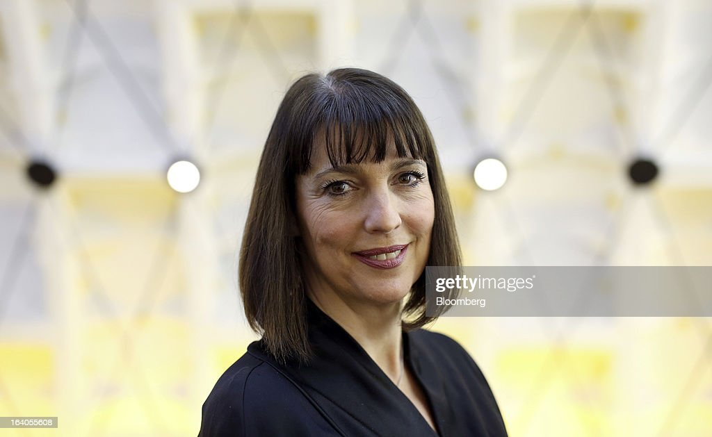 Carolyn McCall, chief executive officer of EasyJet Plc, poses for a photograph in Moscow, Russia, on Tuesday, March 19, 2013. 'Moscow is a landmark route,' McCall said in a briefing before the departure of yesterdays inaugural flight to Russia, adding that bookings have generally exceeded expectations, with 'huge' and unanticipated demand for inbound tickets from Russia to the carrier's London base. Photographer: Chris Ratcliffe/Bloomberg via Getty Images