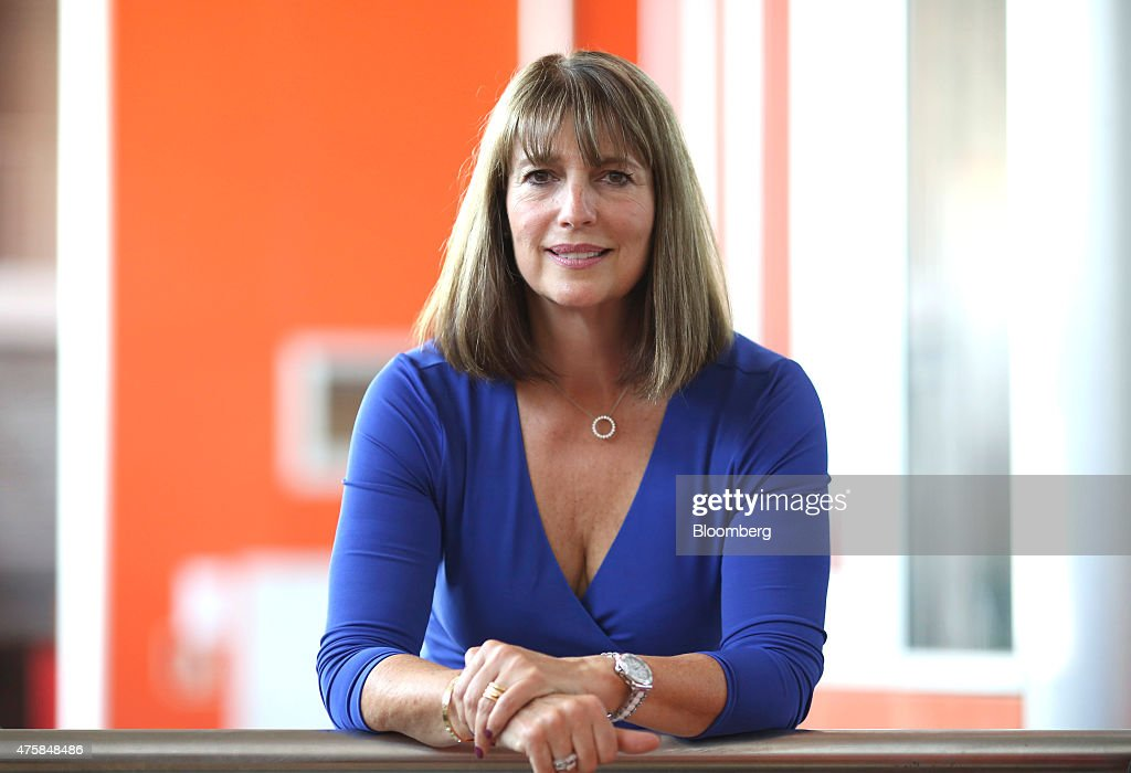 Carolyn McCall, chief executive officer of EasyJet Plc, poses for a photograph following the 'Easyjet Plc Innovation Event' held at Milan's Malpensa airport in Milan, Italy, on Thursday, June 4, 2015. EasyJet Plc said it will begin using drones to inspect jets on the ground starting next year and is experimenting with the 3-D printing of replacement parts as it pursues innovations to keep costs down. Photographer: Chris Ratcliffe/Bloomberg via Getty Images