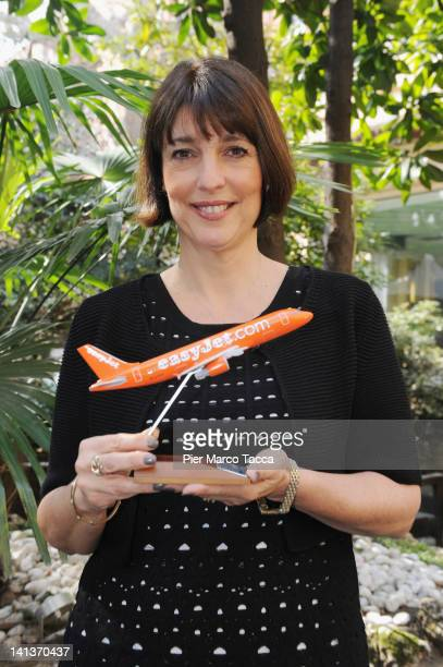 Carolyn McCall EasyJet CEO attends EasyJet Press Conference at Hotel Sheraton Diana Majestic on March 15 2012 in Milan Italy EasyJet confirms the...