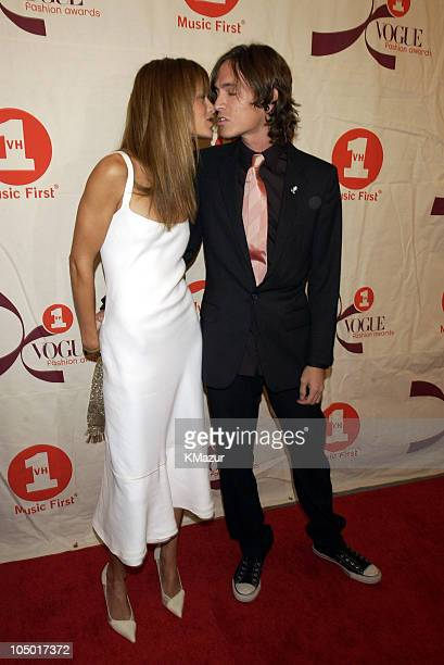Carolyn Murphy and Brandon Boyd during 2002 VH1 Vogue Fashion Awards Arrivals at Radio City Music Hall in New York City New York United States