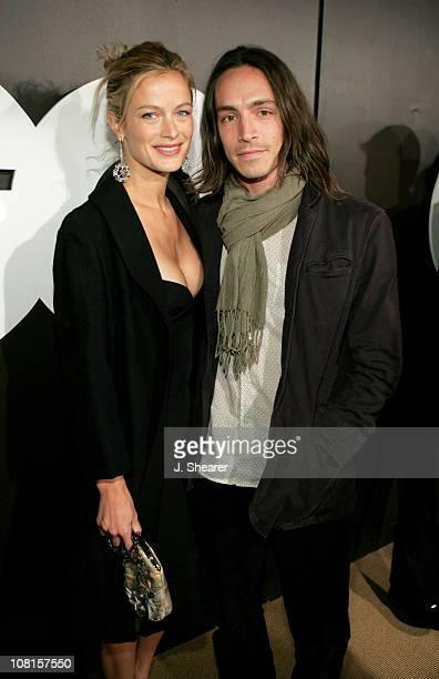 Carolyn Murphy and Brandon Boyd during GQ Magazine Celebrates its 2004 Men of the Year Red Carpet at Lucques Restaurant and Ago Restaurant in Los...