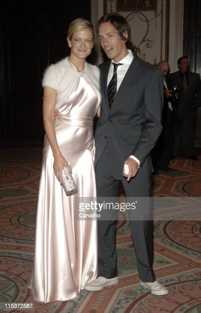 Carolyn Murphy and Brandon Boyd during The Breast Cancer Research Foundation's Annual Red Hot Pink Party Inside Arrivals at Waldorf Astoria in New...