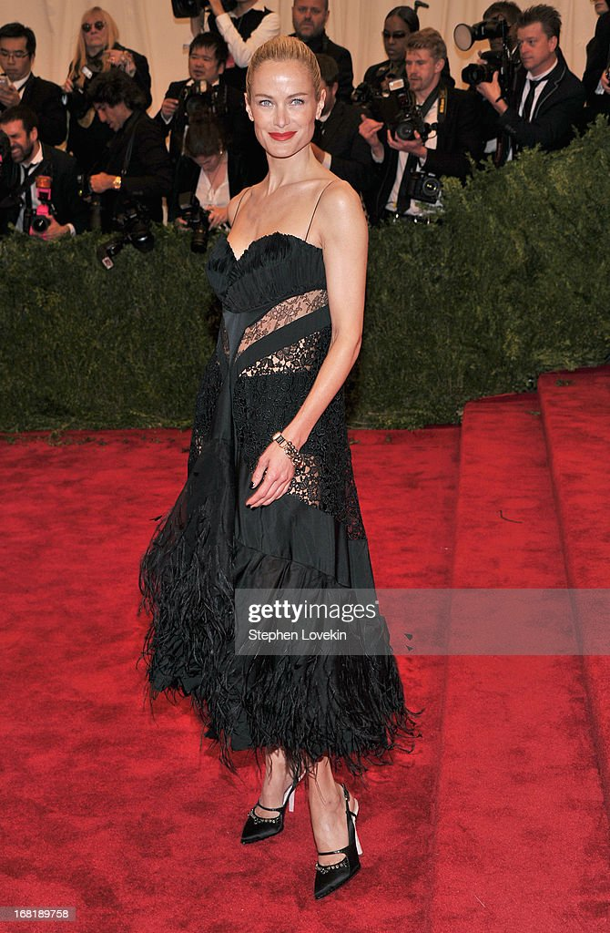 Carolyn Murphy attends the Costume Institute Gala for the 'PUNK: Chaos to Couture' exhibition at the Metropolitan Museum of Art on May 6, 2013 in New York City.
