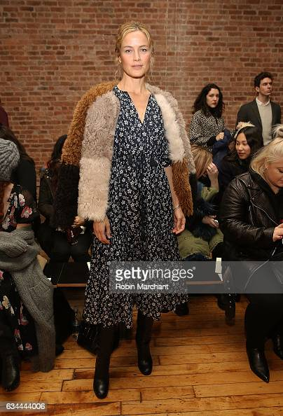 Carolyn Murphy attends Ulla Johnson Front Row during New York Fashion Week on February 9 2017 in New York City