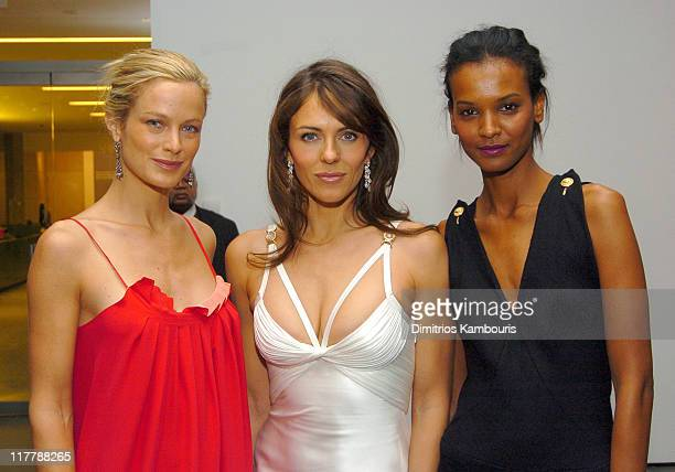 Carolyn Murphy Elizabeth Hurley and Liya Kebede during Estee Lauder Celebrates Spring 2005 Season at The Museum of Modern Art in New York City New...