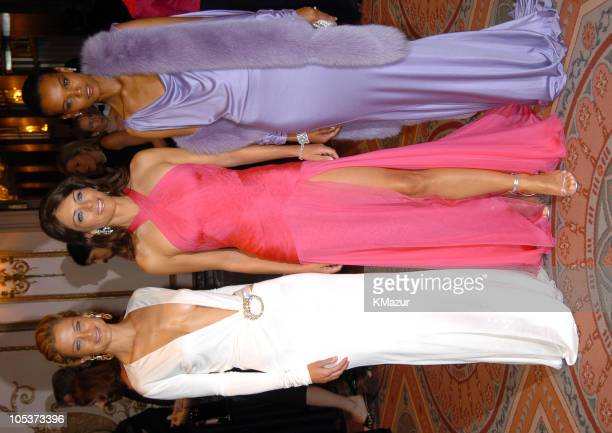 Carolyn Murphy Elizabeth Hurley and Liya Kebede during HOT PINK PARTY Hosted by Elizabeth Hurley and Sir Elton John at Waldorf Astoria Hotel in New...