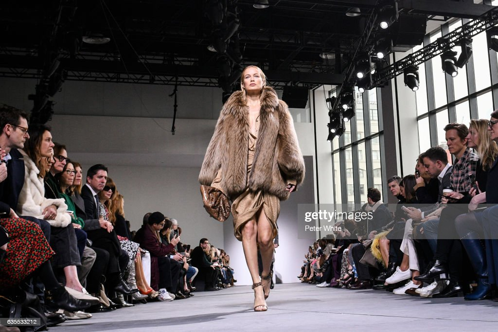 Carolyn Murphy walks the runway at the Michael Kors Collection Fall 2017 show at Spring Studios on at Spring Studios on February 15, 2017 in New York City.
