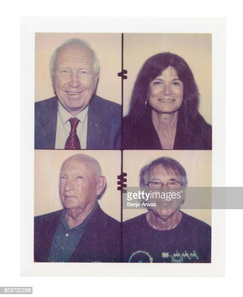 Carolyn Porco Frank Locatell Donald Gurnett and Jon Lomberg of PBS's 'The Farthest Voyager in Space' are photographed on polaroid film during the...