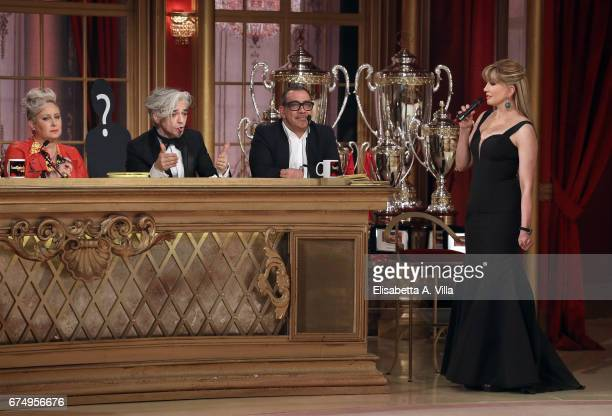 Carolyn Smith Marco Castoldi aka Morgan Guillermo Mariotto and Milly Carlucci attend the Italian TV show 'Ballando Con Le Stelle' at Auditorium Rai...