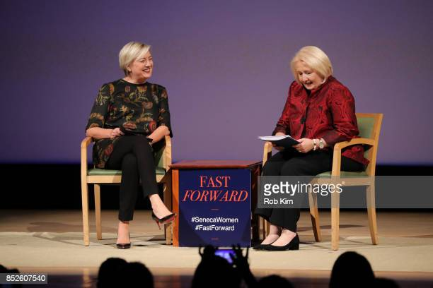 Carolyn Tastad Group President North America Procter Gamble and Melanne Verveer Seneca Women attend Fast Forward Women's Innovation Forum at The...