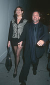 Carolyne Beegan and Billy Joel during Billy Joel Sighting on 5th Avenue October 18 1995 at 5th Avenue in New York City New York United States