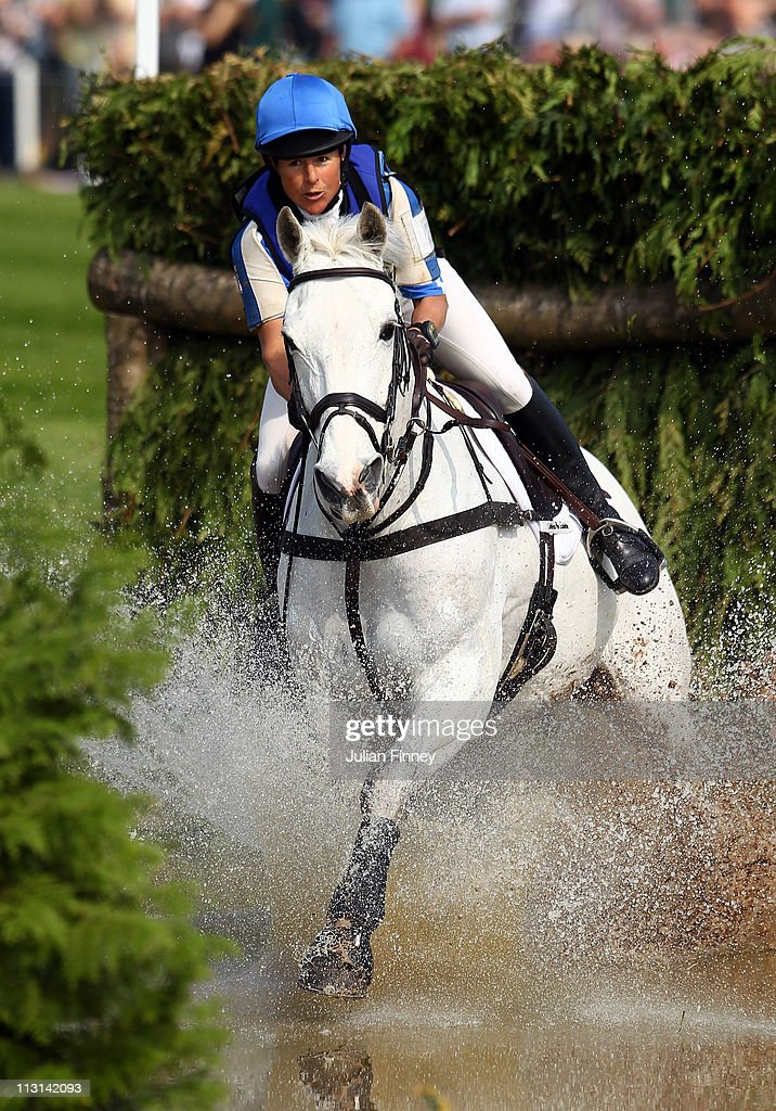 Carolyne Ryan-Bell rides Rathmoyle King as they compete in the cross country stage during day three of the Badminton Horse Trials on April 24, 2011 in Badminton, Gloucestershire.