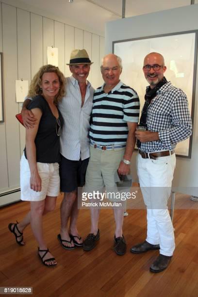Carolynn Carreno TR Pescod David Gambrel and Tim O'Brien attend Gustavo Bonevardi Opening at Gallery B on May 30 2010 in Sag Harbor New York