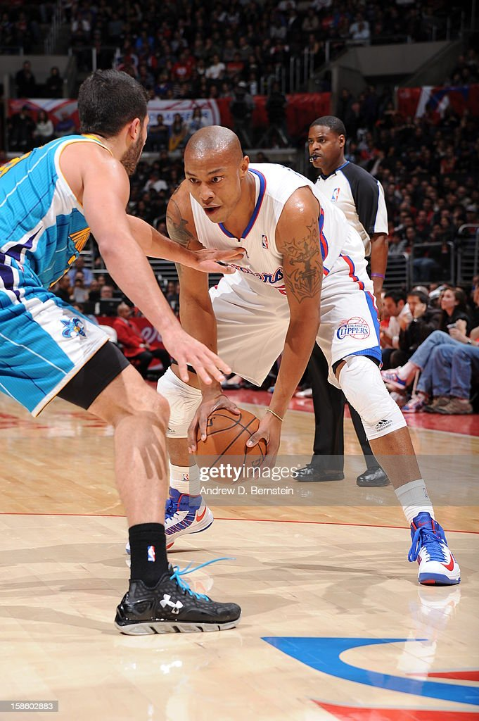 <a gi-track='captionPersonalityLinkClicked' href=/galleries/search?phrase=Caron+Butler&family=editorial&specificpeople=201744 ng-click='$event.stopPropagation()'>Caron Butler</a> #5 of the Los Angeles Clippers handles the ball against the New Orleans Hornets at Staples Center on December 19, 2012 in Los Angeles, California.