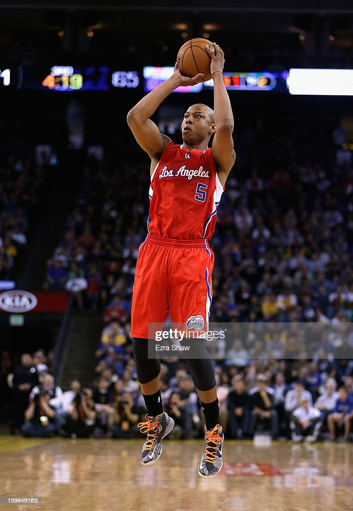 <a gi-track='captionPersonalityLinkClicked' href=/galleries/search?phrase=Caron+Butler&family=editorial&specificpeople=201744 ng-click='$event.stopPropagation()'>Caron Butler</a> #5 of the Los Angeles Clippers in action against the Golden State Warriors at Oracle Arena on January 21, 2013 in Oakland, California.