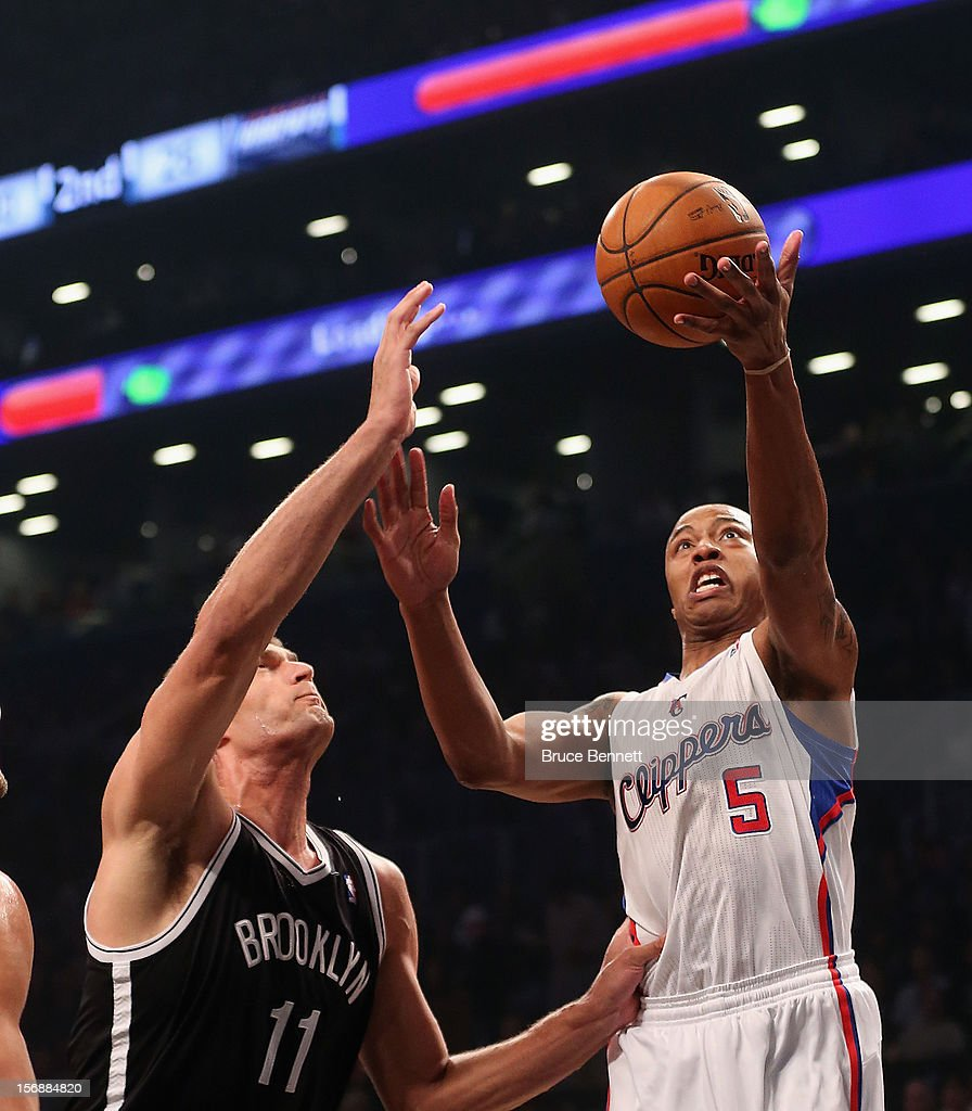 Caron Butler #5 of the Los Angeles Clippers is stopped in his game against the Brooklyn Nets at the Barclays Center on November 23, 2012 in the Brooklyn borough of New York City.