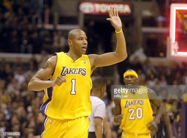 Caron Butler of the Los Angeles Lakers during 109103 loss to the New Jersey Nets at the Staples Center in Los Angeles Calif on Jan 28 2005