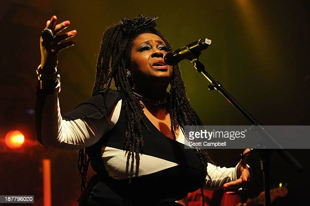 Caron Wheeler of Soul II Soul performs on stage at KOKO on November 12 2013 in London United Kingdom